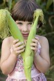 kukurudzy dziewczyna pięć mali starzy rok Zdjęcia Stock