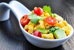 Kukurudzy i Avocado sałatka Fotografia Stock