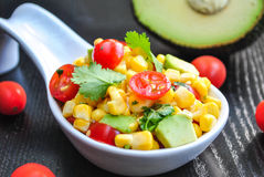 Kukurudzy i Avocado sałatka Obrazy Royalty Free