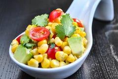 Kukurudzy i Avocado sałatka Zdjęcie Stock