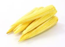 kukurydza kulinarna odciął dziecko świeżo przygotowanego części warzywa wok Zdjęcia Royalty Free