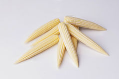 kukurydza kulinarna odciął dziecko świeżo przygotowanego części warzywa wok Obraz Stock