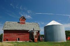 kukurydza starej stodole Zdjęcie Royalty Free