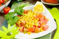 Kukurydzana i pomidorowa sałatka Obrazy Royalty Free