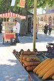 Kukurydzana sprzedaż, foods i ulicy Istanbuł, Turcja Obraz Stock