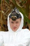kukurydzanego pola dziewczyna zanieczyszczający ruch punków fotografia stock