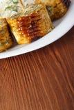 Kukurydzani cobs gotujący na grillu Obraz Stock