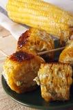 Kukurydzani cobs gotujący na grillu obrazy royalty free