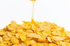 Kukurydzani flakers z miodem fotografia stock