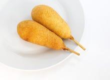 Kukurydzani hot dog zdjęcia stock