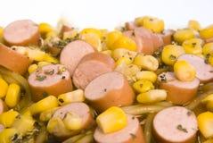 kukurydzani kiełbas spaghetti dowcipy Fotografia Stock