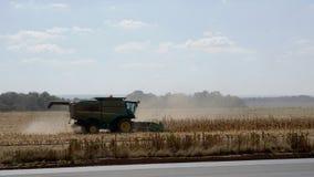 Kukurydzany żniwo w Południowa Afryka Zdjęcie Stock