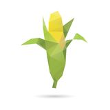 Kukurydzany abstrakt odizolowywający na biali tła Zdjęcie Royalty Free