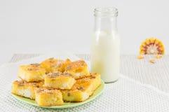 Kukurydzany chleb z ziarnami Obraz Royalty Free