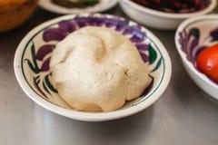 Kukurydzany ciasto meksykanin Jedzenie Masa De Maiz i meksykańscy ingredientes dla jedzenia w Mexico - miasto obrazy stock