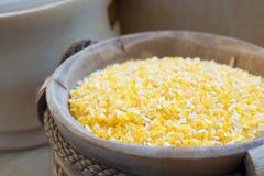 Kukurydzany Groat zakończenie Up Fotografia Royalty Free
