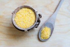 Kukurydzany Groat zakończenie Up Zdjęcie Stock