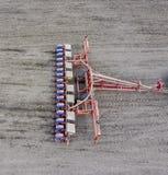 Kukurydzany ikrzak Siać na polu z ikrzakiem kukurudza Fotografia Royalty Free