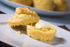 kukurydzanych muffins weganin zdjęcie stock
