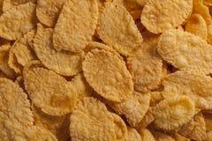Kukurydzanych płatków jedzenia tło Obrazy Royalty Free