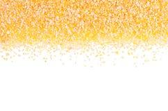 Kukurydzanych pyłów groats jak dekoracyjną granicę odizolowywającą na białym tle Odgórny widok, zbliżenie Zdjęcie Royalty Free