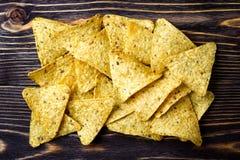 Kukurydzanych układów scalonych nachos zdjęcia royalty free