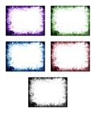 Kulör abstrakt ram Arkivfoto