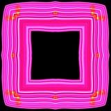 Kulör abstrakt rosa dekorativ ram Stock Illustrationer