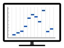 Kulör affärsgraf på en datorskärm Vektor Illustrationer