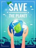 Kulör affisch för ekologi stock illustrationer