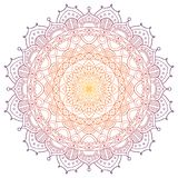 Kulör bakgrund för Mandalamodell också vektor för coreldrawillustration Meditationbeståndsdel för Indien yoga Prydnad för att dek stock illustrationer