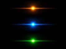 Kulör belysning verkställer Arkivfoto