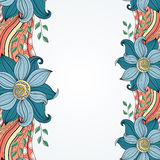 Kulör blom- bakgrund för vektor Arkivbild