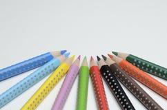 kulör blyertspenna Arkivfoto