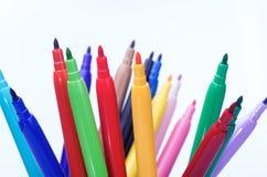 Kulör blyertspenna 15 Fotografering för Bildbyråer
