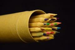 Kulör blyertspenna Fotografering för Bildbyråer