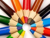 Kulör blyertspenna Arkivbild