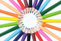 Kulör blyertspennacirkulering Arkivfoton