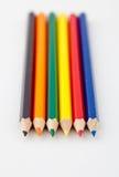 kulör blyertspennarad Royaltyfri Fotografi