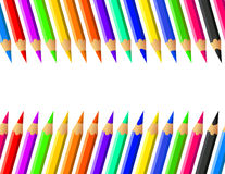 Kulör blyertspennavektoruppsättning Royaltyfri Foto