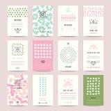 Kulör bröllopinbjudan för pastell, födelsedagkort royaltyfri illustrationer