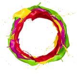 Kulör cirkel Arkivfoto