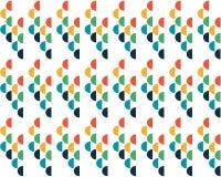 Kulör cirkelmodell för abstrakt bakgrund på vit bakgrund vektor illustrationer