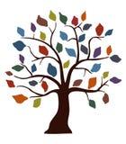 kulör dekorativ tree royaltyfri illustrationer