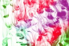 kulör färgpulverfärgstänk Arkivbilder
