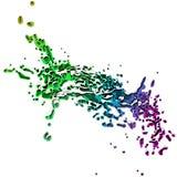 kulör färgstänk Arkivfoto