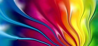Kulör för bakgrundstapet för våg 3d illustration för vektor stock illustrationer