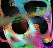 Kulör fractal vektor illustrationer