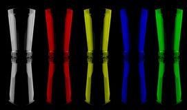 Kulör Glass kopp Fotografering för Bildbyråer