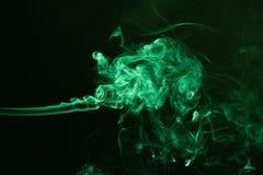Kulör grön rök Fotografering för Bildbyråer